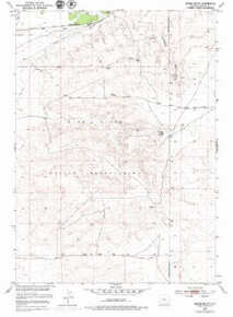 7.5' Topo Map of the Indian Butte, WY Quadrangle