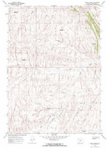 7.5' Topo Map of the Indian Creek, WY Quadrangle