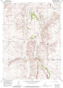 7.5' Topo Map of the Indian Guide, WY Quadrangle