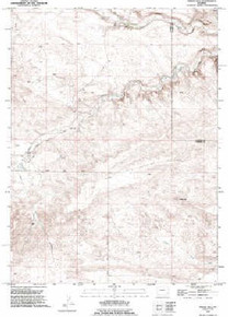 7.5' Topo Map of the Indian Hill, WY Quadrangle