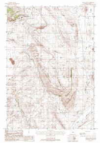 7.5' Topo Map of the Indian Pass, WY Quadrangle