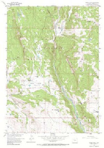 7.5' Topo Map of the Indian Point, WY Quadrangle