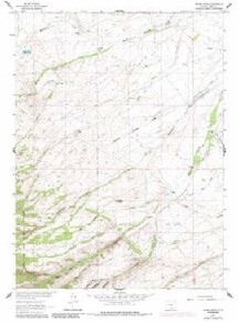 7.5' Topo Map of the Indian Rocks, WY Quadrangle