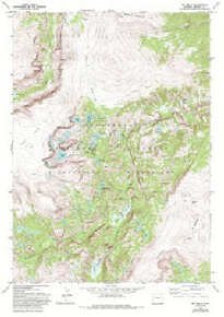 7.5' Topo Map of the Ink Wells, WY Quadrangle