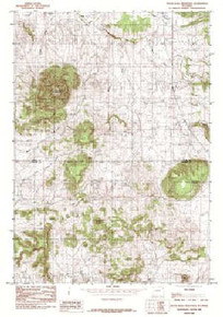 7.5' Topo Map of the Inyan Kara Mountain, WY Quadrangle