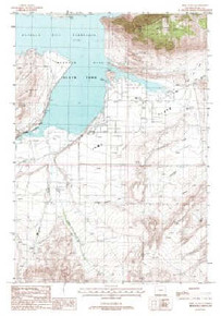 7.5' Topo Map of the Irma Flats, WY Quadrangle