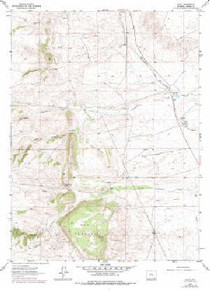 7.5' Topo Map of the Islay, WY Quadrangle