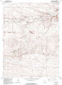 7.5' Topo Map of the J H D Ranch, WY Quadrangle