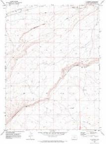 7.5' Topo Map of the J O Dugway, WY Quadrangle