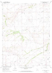 7.5' Topo Map of the Jack Creek Reservoir, WY Quadrangle