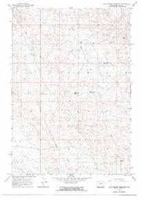 7.5' Topo Map of the Jack Horner Reservoir, WY Quadrangle