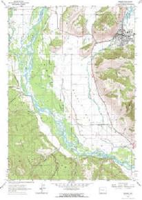 7.5' Topo Map of the Jackson, WY Quadrangle