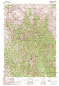 7.5' Topo Map of the Jaggar Peak, WY Quadrangle