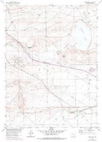 7.5' Topo Map of the James Lake, WY Quadrangle