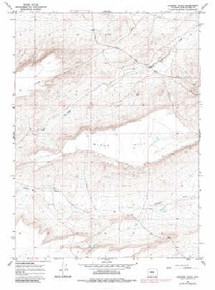 7.5' Topo Map of the Jawbone Ranch, WY Quadrangle