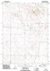 7.5' Topo Map of the Jay Em NW, WY Quadrangle