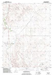 7.5' Topo Map of the Jay Em, WY Quadrangle