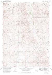 7.5' Topo Map of the Jeffers Draw, WY Quadrangle