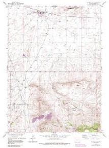 7.5' Topo Map of the Jeffrey City, WY Quadrangle