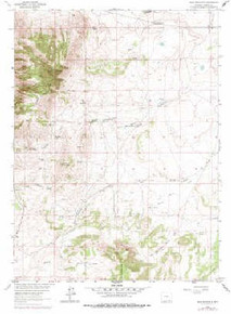 7.5' Topo Map of the Jelm Mountain, WY Quadrangle