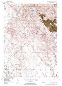 7.5' Topo Map of the Jenkins Mountain, WY Quadrangle