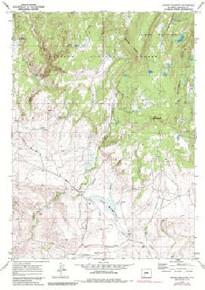 7.5' Topo Map of the Jensen Meadows, WY Quadrangle