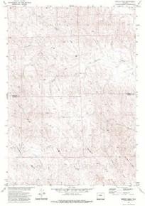 7.5' Topo Map of the Jewell Draw, WY Quadrangle