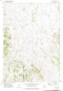 7.5' Topo Map of the Jim Creek, WY Quadrangle