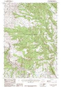 7.5' Topo Map of the Jim Mountain, WY Quadrangle