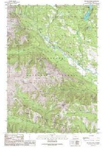 7.5' Topo Map of the Jim Smith Peak, WY Quadrangle