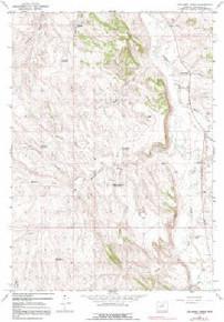 7.5' Topo Map of the Joe Emge Creek, WY Quadrangle