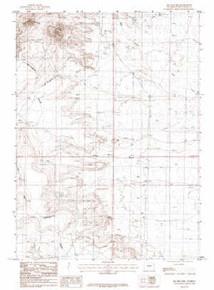 7.5' Topo Map of the Joe Hay Rim, WY Quadrangle
