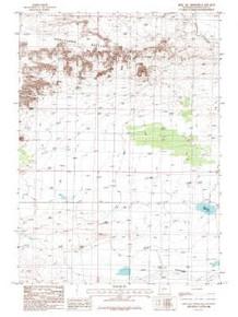 7.5' Topo Map of the John Hay Reservoir, WY Quadrangle