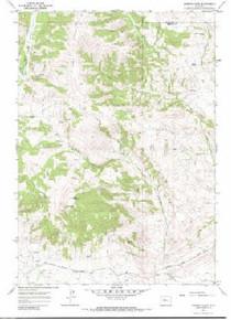 7.5' Topo Map of the Johnson Draw, WY Quadrangle