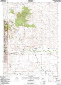 7.5' Topo Map of the Johnson Mountain, WY Quadrangle