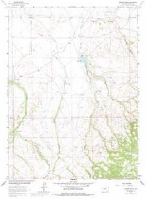 7.5' Topo Map of the Johnson Ranch, WY Quadrangle