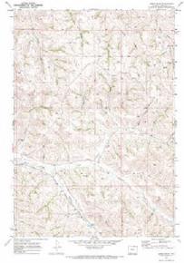 7.5' Topo Map of the Jones Draw, WY Quadrangle