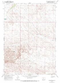 7.5' Topo Map of the Jones Reservoir, WY Quadrangle