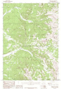 7.5' Topo Map of the Joseph Peak, WY Quadrangle