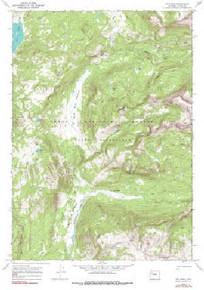 7.5' Topo Map of the Joy Peak, WY Quadrangle