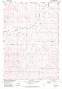 7.5' Topo Map of the Julio Draw, WY Quadrangle
