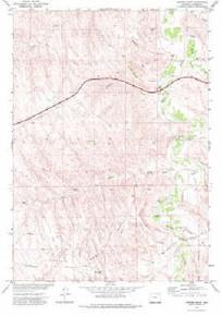 7.5' Topo Map of the Juniper Draw, WY Quadrangle