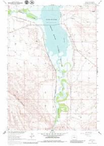 7.5' Topo Map of the Kane, WY Quadrangle
