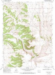 7.5' Topo Map of the Kappes Canyon, WY Quadrangle
