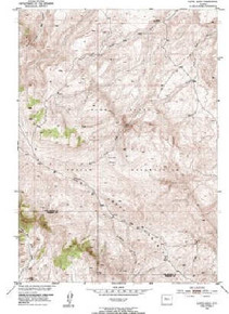 7.5' Topo Map of the Kates Basin, WY Quadrangle