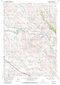 7.5' Topo Map of the Kaycee NE, WY Quadrangle
