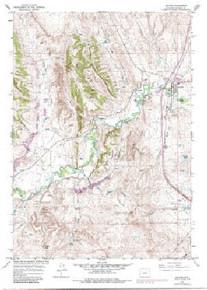 7.5' Topo Map of the Kaycee, WY Quadrangle