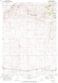 7.5' Topo Map of the Keeline, WY Quadrangle