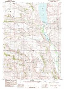 7.5' Topo Map of the Kemmerer Reservoir, WY Quadrangle