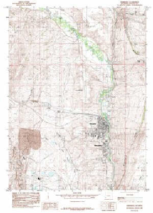 Kemmerer Wyoming Map.7 5 Topo Map Of The Kemmerer Wy Quadrangle Wsgs Product Sales